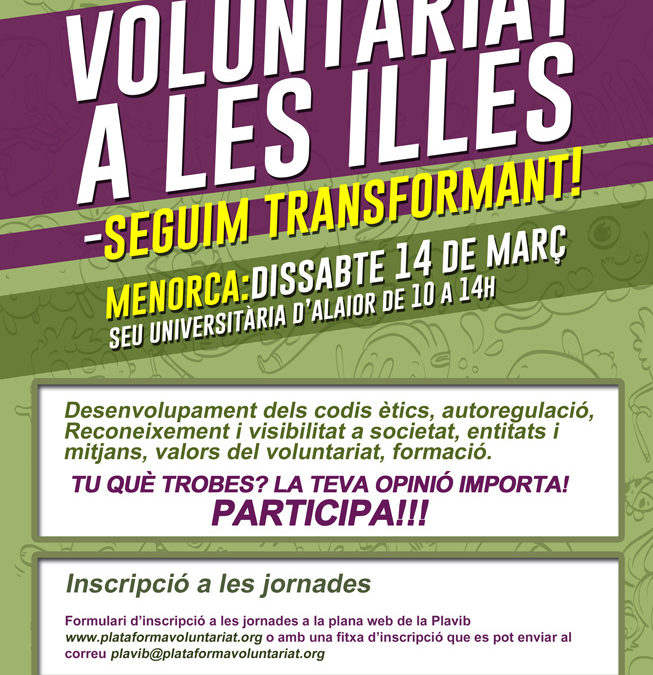 Voluntariat a les Illes, Menorca