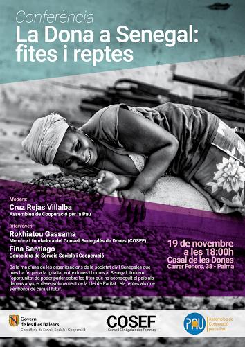 """Conferència Senegal """" La dona a Senegal, fites i reptes"""""""