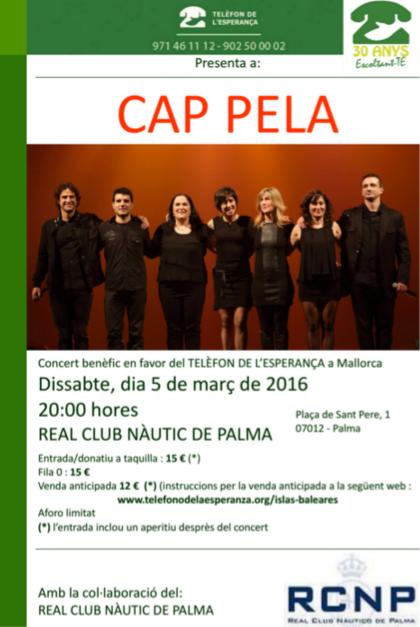 Concert de Cap Pela a favor de Telèfon de l'Esperança