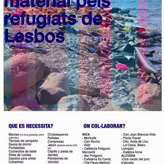 Recogida Solidaria en Mallorca para los refugiados de Lesbos