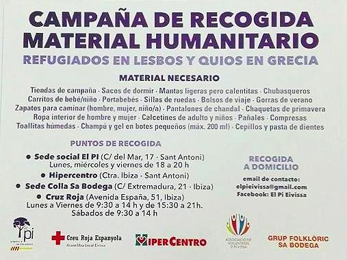 Campanya de recollida de material humanitari