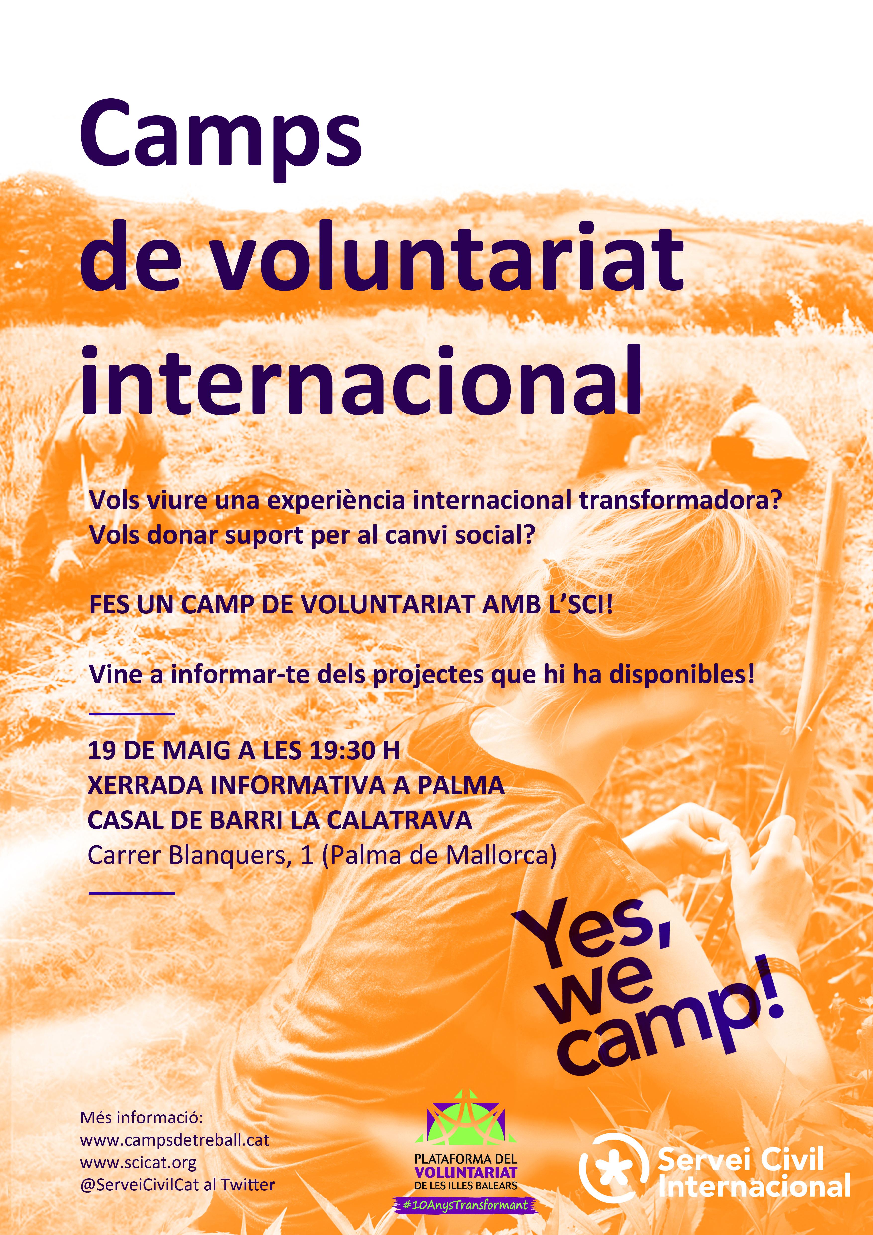 Sesión Informativa Campos de Voluntariado Internacional