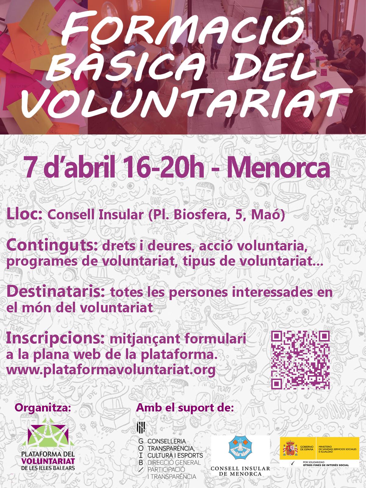 Formación Básica de Voluntariado en Maó