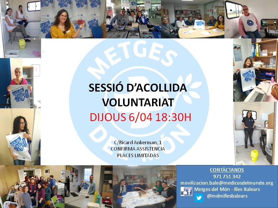 Sessió d'acollida al nou voluntariat de Metges del Món