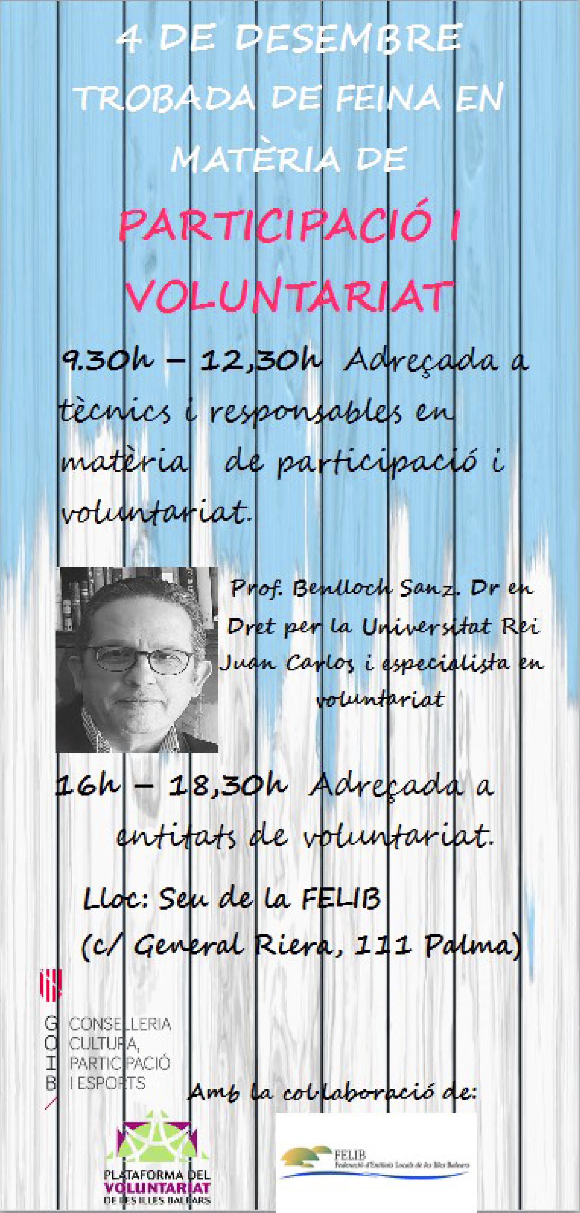 Jornada de Formació i Reflexió per la nova llei de voluntariat