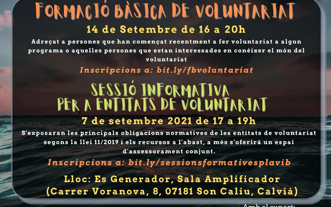 Formació bàsica del voluntariat  + sessió informativa per a entitats – Calvià