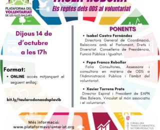 """Taula Rodona """"Els reptes dels ODS al Voluntariat"""""""